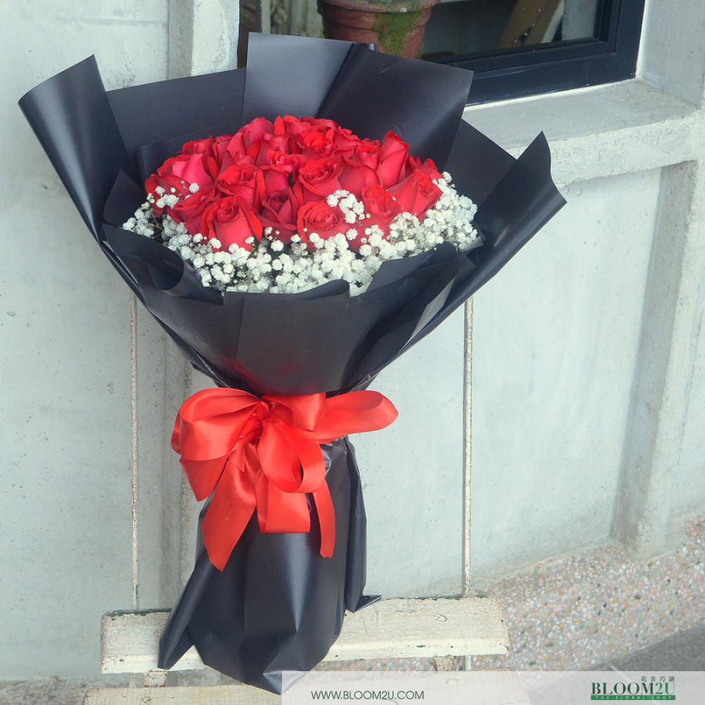 Red Rose Flower Bouquet Flower Delivery Service Malaysia