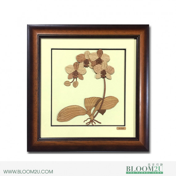 Phalaenopsis Orchid Corporate Wooden Veneer Gift
