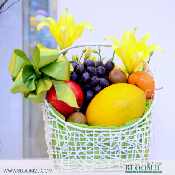 Fruit And Flwoer Basket