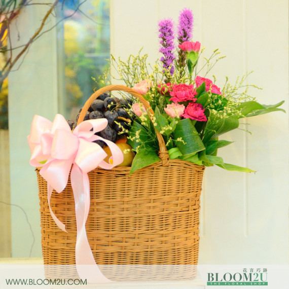 Fruit And Flowers Basket