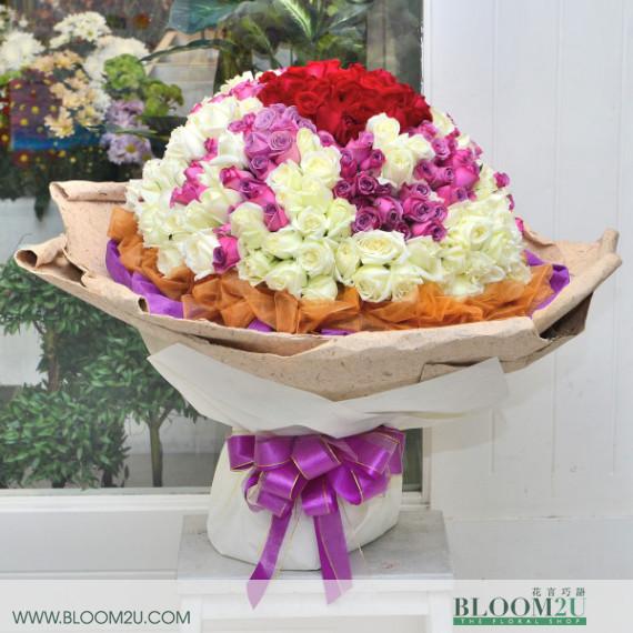 300 stalks hand bouquet