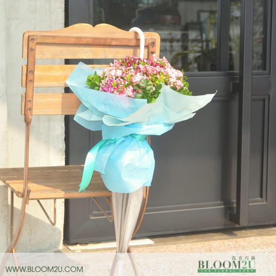 Small Flowers Umbrella Hand Bouquet