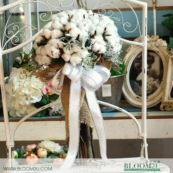 Cotton Flowers Bridal Bouquet