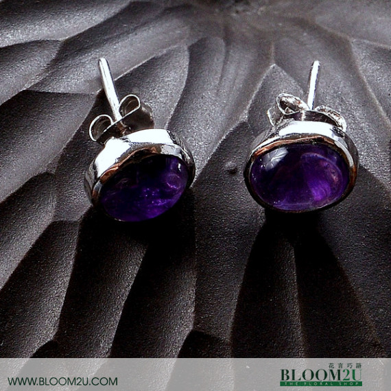 ear ring amethyst