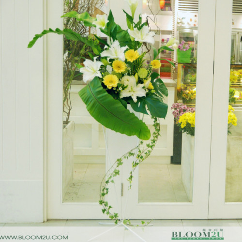 Lilies Condolence Stand