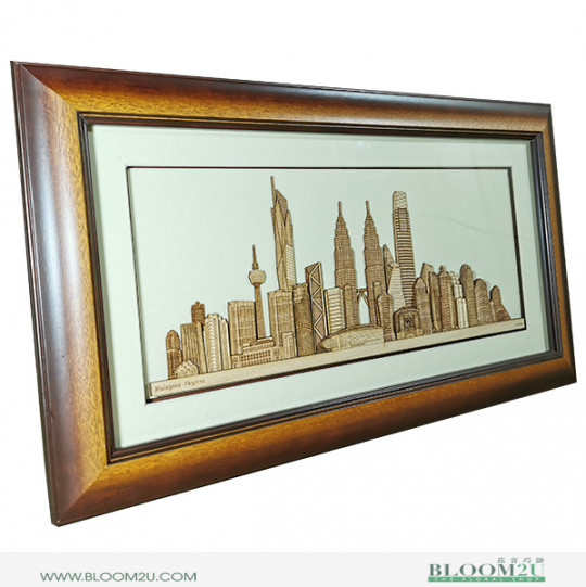 KL Skyline Veneer Wood Corporate Gift