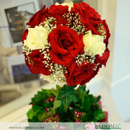 Rose flower ball