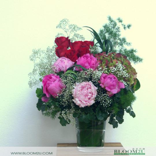 Peonies Flower Arrangement