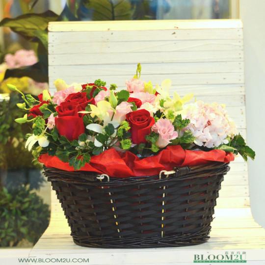 Hydrangea Flower Basket