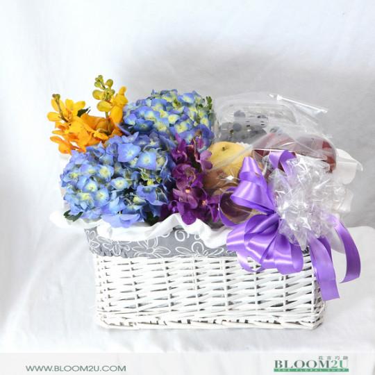 Luxury Fruit And Flower Basket