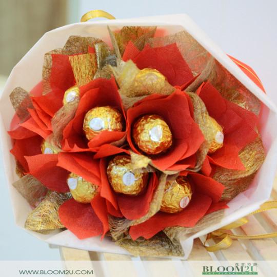 9 Fererro Rocher chocolate