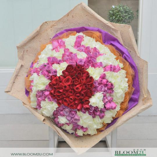 300 stalks rose bouquet