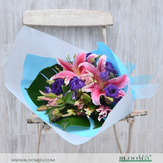Pink Lily Hand Bouquet