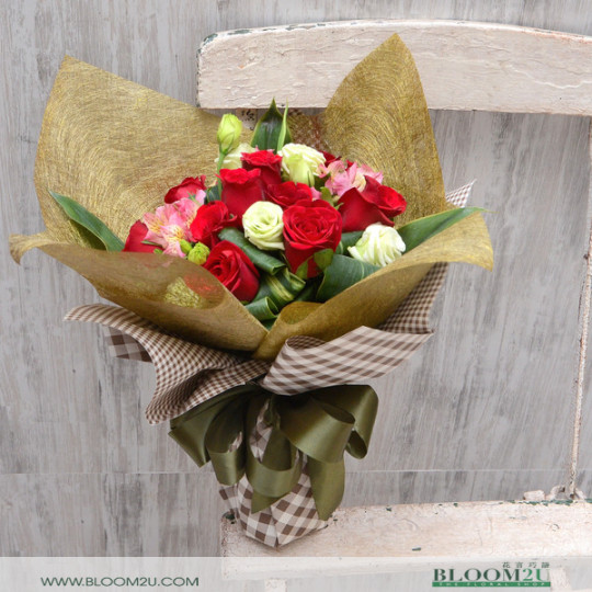 Imported Roses Hand Bouquet