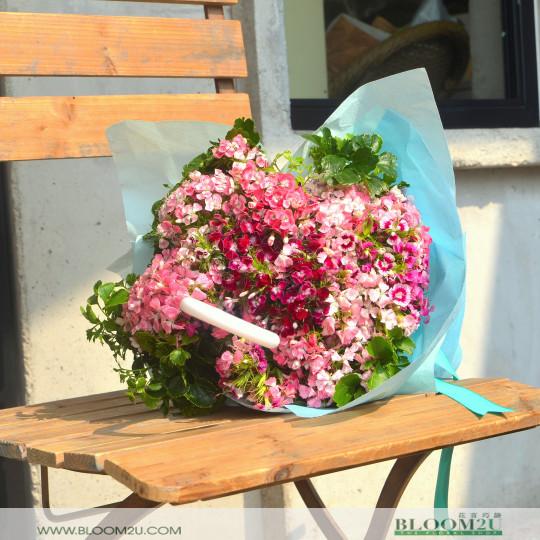 Sweet Williams Umbrella Hand Bouquet