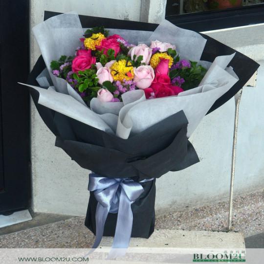 smiley face flower bouquet