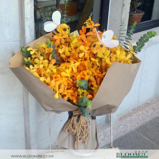 Mokara Orchid Bouquet