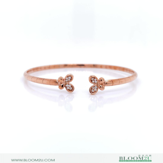 butterly rose gold bracelet