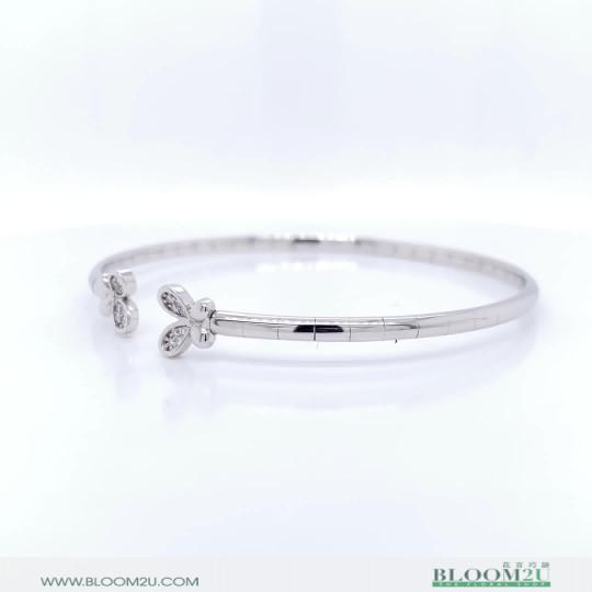 white gold bangle