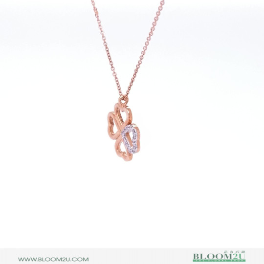 hope rose gold pendant