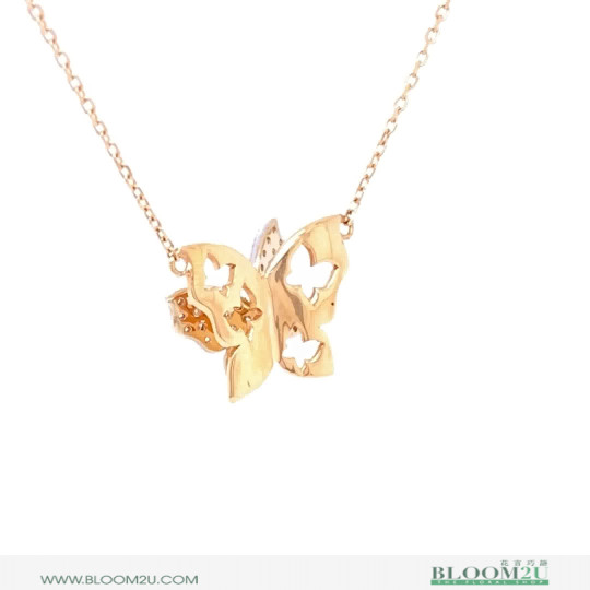butterfly gold pendant