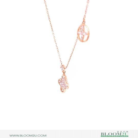 double rose gold pendant