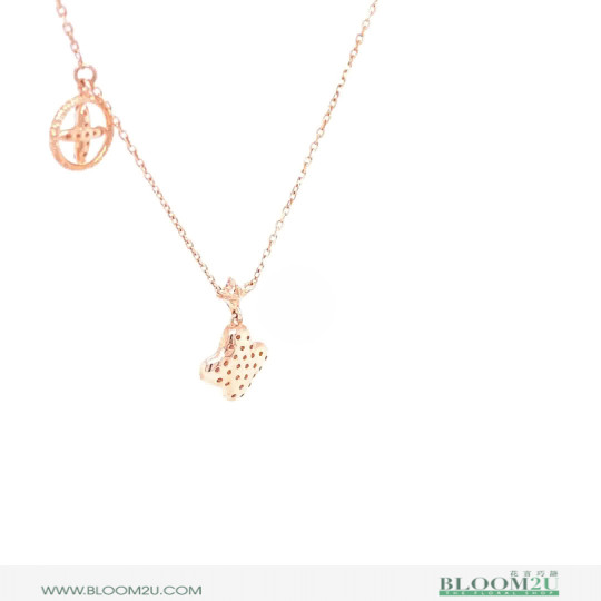 rose gold with diamonds pendant