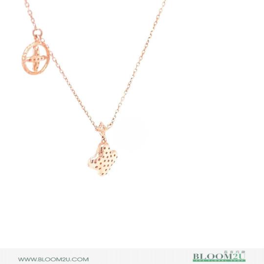 rose gold with diamonds pendant