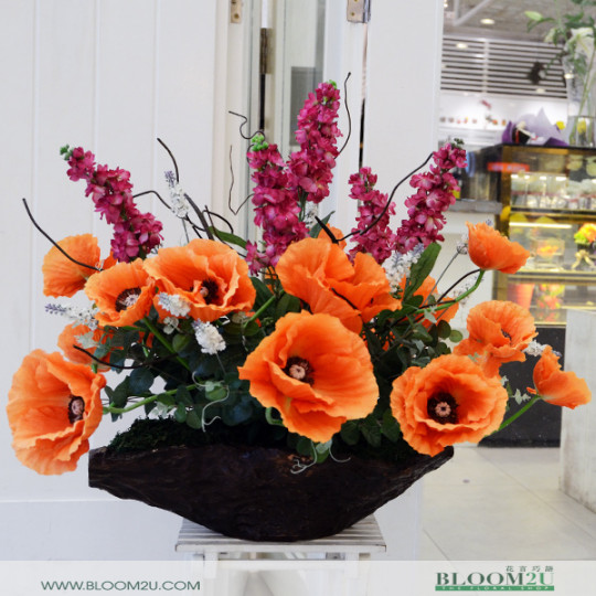 Poppy Flower Arrangement