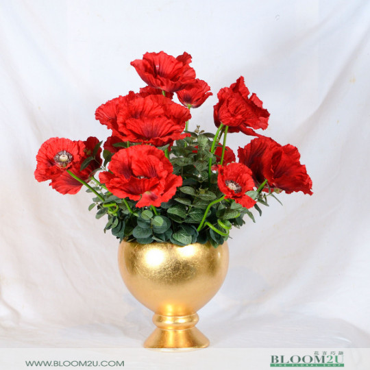 Poppy Artificla Flower Arrangement
