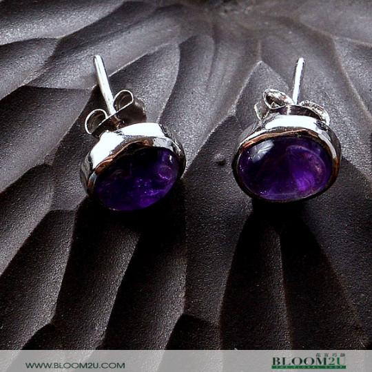 ear ring amethyst